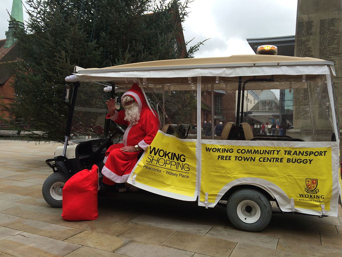 WokingBustler meets the christmas Town buggy