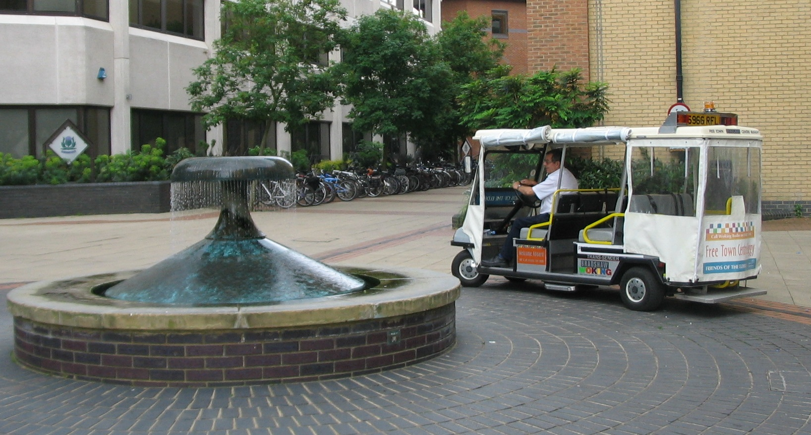 Town centre buggy at the TCB_fountain