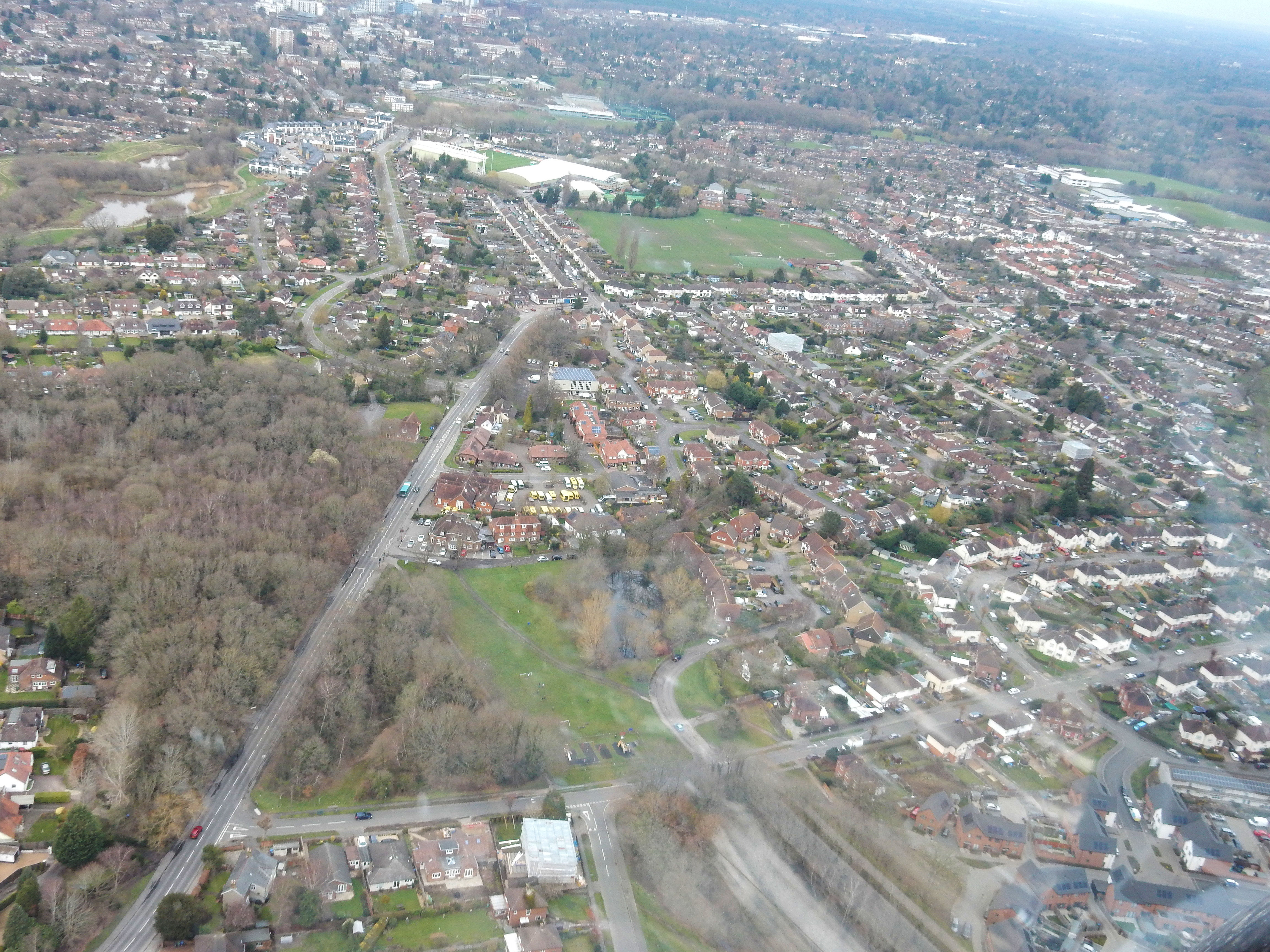 aerial images of the Woking Bustler