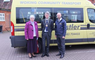 image of Will_Forster_Woking_Mayor_and_WCT's_CEO_Guy_Padfield_Wilkins and_Vice_Chairman_Anne_Ansell