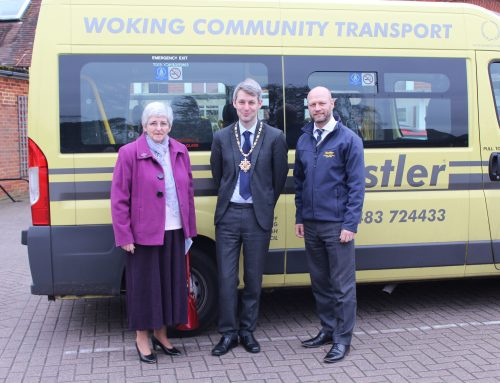 Woking Mayor Visits Bustler