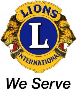Lions logo - We Serve